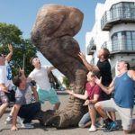 jurassic park t-rex for sale hire unique art sculpture unique event hire hire a gorilla for tv film events