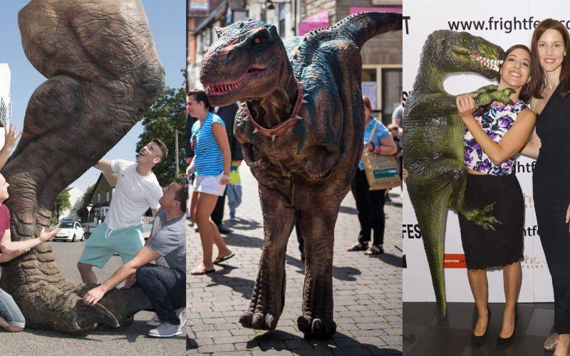 hire a dinosaur unique event hire hire a gorilla for tv film events